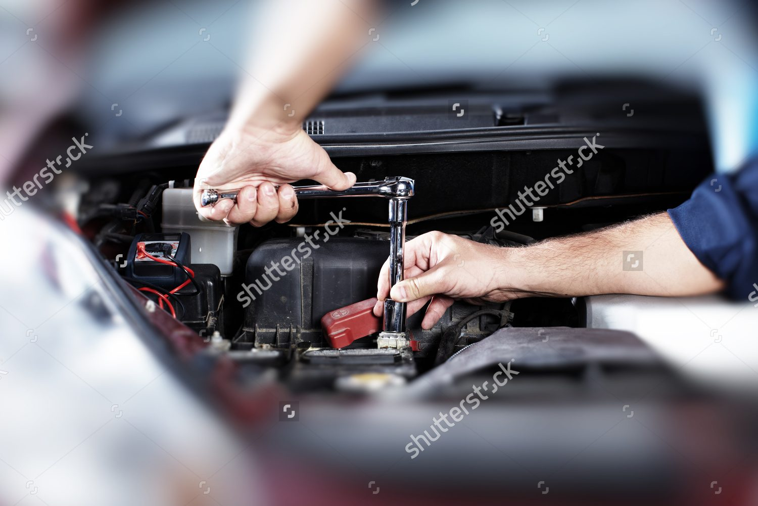 Auto Repair Services Near Me >> Stock Photo Hands Of Car Mechanic In Auto Repair Service